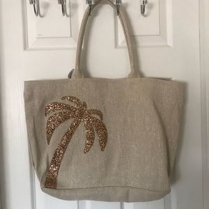 Handbags - Tote with bling Palm Tree NWT